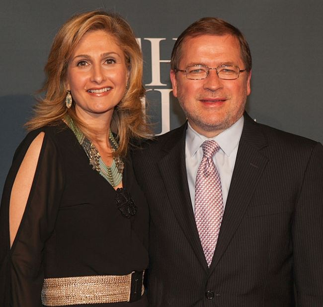 Grover Norquist with his wife, Samah Norquist. | Source: gettyimages.com