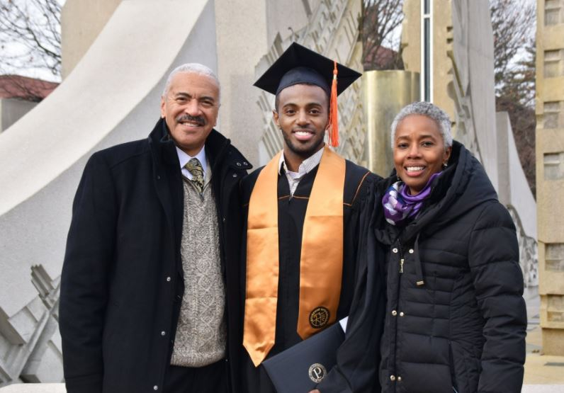 Huel Perkins with his wife Priscilla and son, Vincent   Source: Facebook