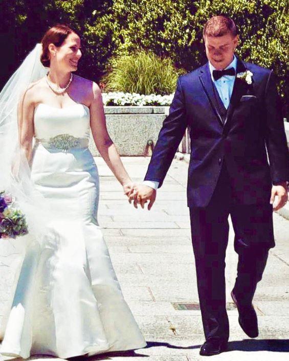 Nick Perrine with his wife, Erin Perrine.   Source: Twitter