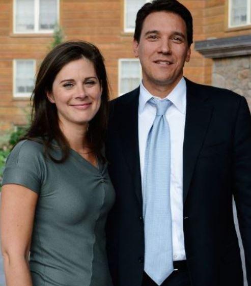 David Rubulotta with his wife, Erin Burnett. | Source: Pinterest
