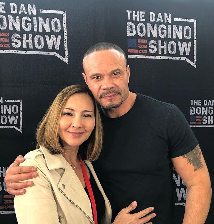 Dan Bongino with his wife, Paula Andrea Bongino.   Source: Instagram