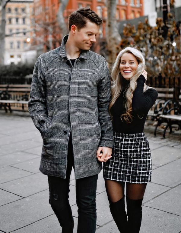 Olivia Rink with his fiance, Conner Hempel. | Source: oliviarink.com