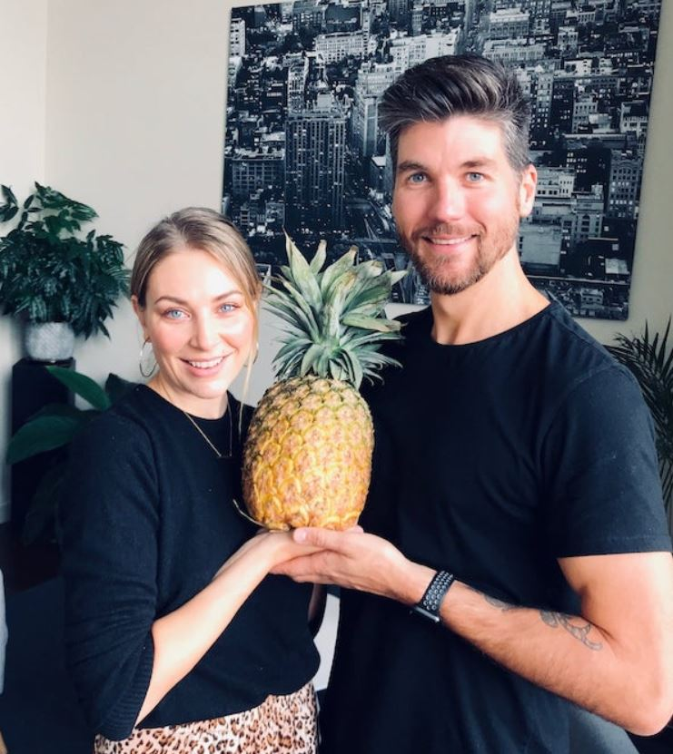 Kate Jenkinson with her boyfriend, Nathan Harding. | Source: Nathan's Blog