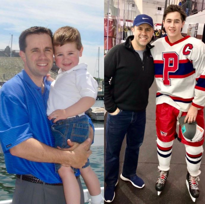 Patrick Little with his son, Connor Little. | Source: Twitter
