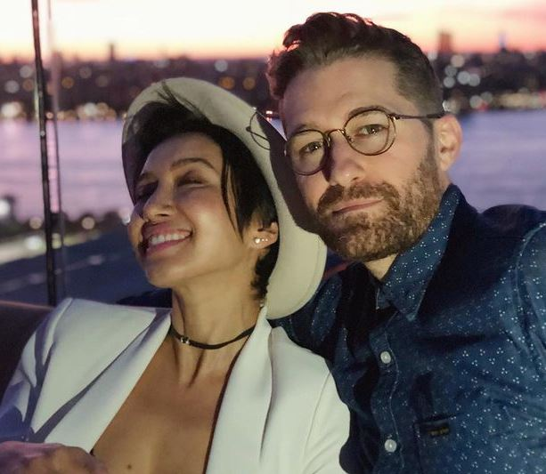 Renee Puente with her husband, Matthew Morrison. | Source: Instagram