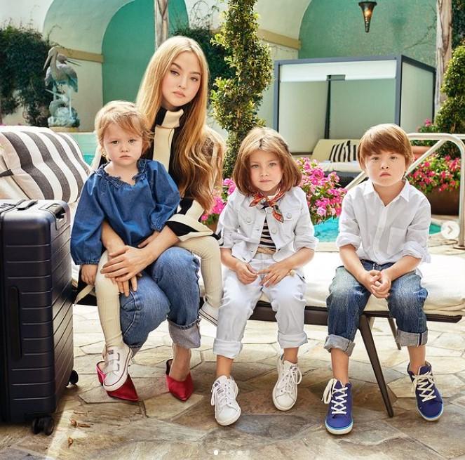 Devon Aoki with Children}}