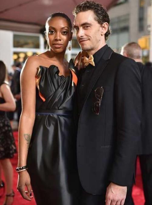 Condola Rashad with her fiance Sebastian Valentin Stenhoj | Source: Pinterest